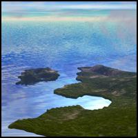 Aerial view of a landmass
